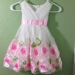 American Princess Rose Border Sleeveless Dress